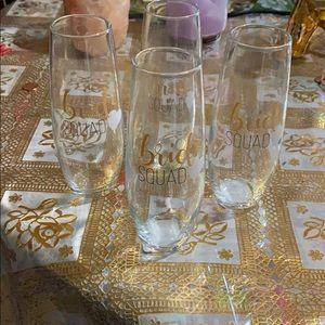 Bride squad glass set